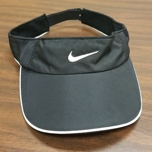 Nike Dry Fit Black White Visor Hat